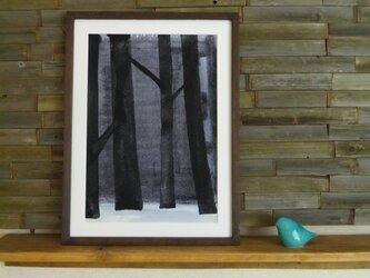 ゆる絵 Dusky forest  A3 + 額の画像