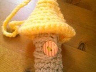 キノコのリップクリームケース(コーンクリーム)の画像