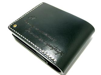 Half wallet-002-ブラックの画像