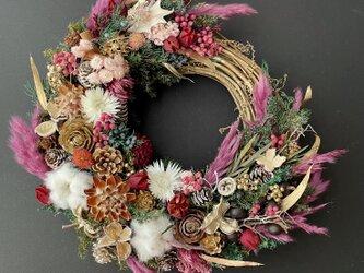 Natural  autumn wreathの画像