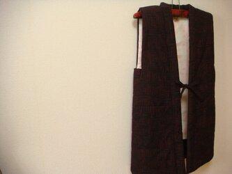 袖なしはんてん つむぎの反物から (ちゃんちゃんこ)の画像