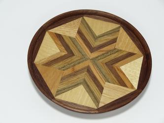 寄木のミニトレイ 菓子皿の画像