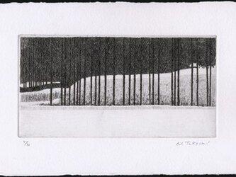 雪の里山 / 銅版画 (作品のみ)の画像