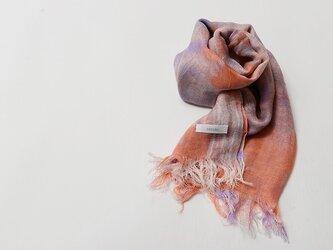 国産シルク100%手描き染めストール pink&purpleの画像