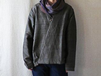 草木染シルクカシュクールシャツジャケットの画像