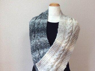 縄編みスヌード C 2016の画像