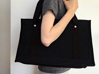 綾織帆布ツールバック(ブラック)の画像