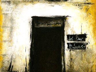風景画 パリ 油絵「BAR~BROWNSUGER~」の画像