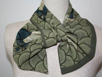 縮緬 リバーシブル変わりスカーフの画像