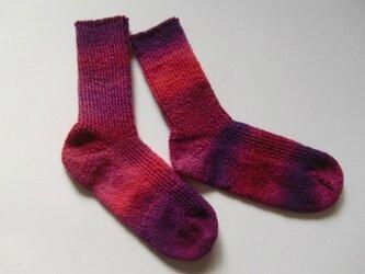 手編み靴下【クレイジー・ザウバー・ボール 2095】の画像