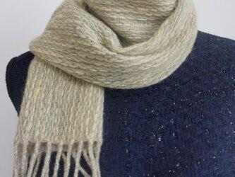 手紡ぎ 手織り  草木染のマフラーの画像