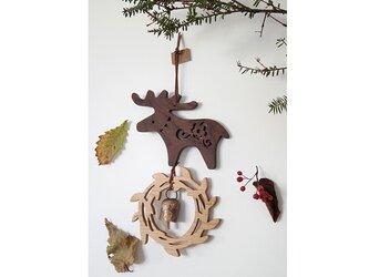 クリスマスの飾り トナカイ ダークブラウンの画像