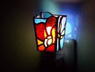 おやすみライト「秋風(赤×青)」の画像