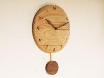 振り子時計 栗材2の画像