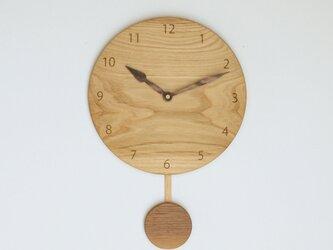 木製 振り子時計 栗材8の画像