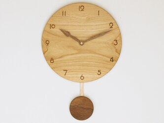 木製 振り子時計 栗材12の画像