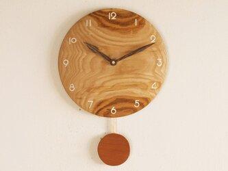 振り子時計 栗材3の画像