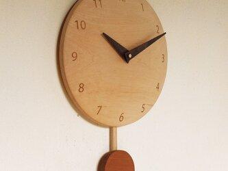 振り子時計 楓材2の画像