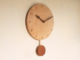 振り子時計 楓材3の画像