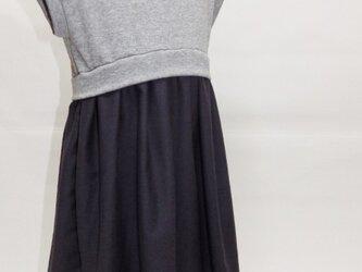 【型紙】カットソー+布帛コンビワンピ②モックネックドレス95-130 KIDSサイズ K013-OP16の画像