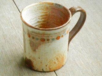 百色(ももいろ)象嵌 マグカップ 縁取り丸紋の画像