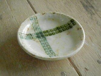 豆皿 緑釉象嵌の画像