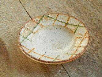 豆皿 百色(ももいろ)象嵌 麦藁格子の画像