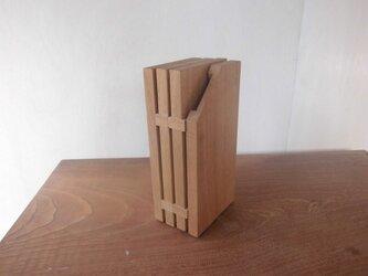 中が洗えるナイフスタンド(包丁5本+キッチンハサミ収納用) / ナラの画像