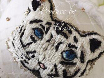 刺繍トラのCap☆[tigatiga/White]B-2004Wの画像