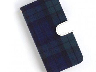 iphone6/6s/7/8手帳型ケース(ブラックウォッチ) スマホ全機種製作可の画像