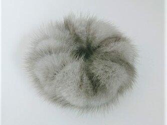 ¶ new antique fur ¶ サファイアミンクシュシュ「aore」の画像