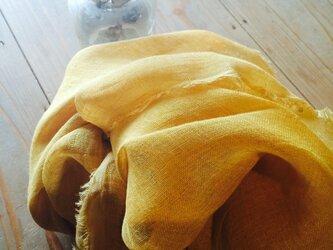 草木染めストール(たまねぎと黄金花ブレンド・山吹色)minekoさま専用の画像