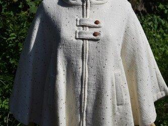 スパンコールポンチョ(白)の画像