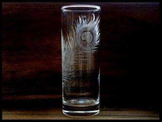 グラス--孔雀の羽根の画像