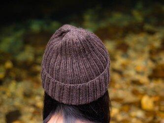 ブラウンリブ編み帽子 by Ōdāmeidoの画像