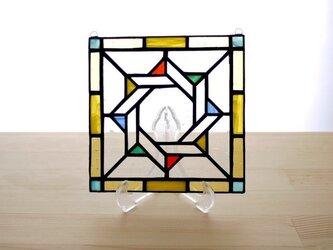 ステンドグラスパネル ジオメトリック Mサイズの画像