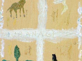 森の映る窓の画像
