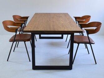 送料無料 ダイニングテーブル アイアン脚 DT-ir-square-150の画像
