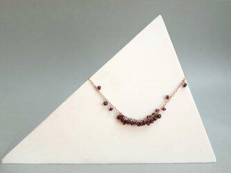 ガーネットのぶどうネックレス<ピンクゴールド系>の画像