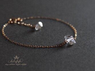 herkimer diamond bracelet~大粒ハーキマーダイヤモンドのブレスレットの画像
