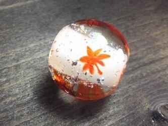 紅葉のとんぼ玉・お客様オーダー品の画像
