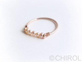 ・・ 淡水パール( ピンク) リング・・/ 14KGF PINKの画像