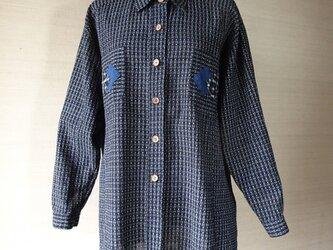 手織り久留米絣:手ざわり抜群のシャツ・ブラウス(W-40)の画像
