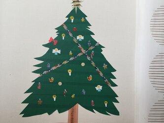 クリスマスツリー ウォールシールの画像