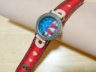 グラデーション☆腕時計redの画像