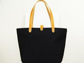 たっぷり容量6号帆布のトートバッグ~黒(倉敷帆布)~の画像