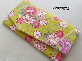 袱紗(ふくさ) 和調木綿(花結び文様 ×ジャガード桜文様・アイボリー)の画像