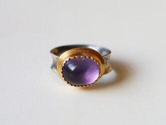 古代スタイル アメジスト 指輪 12号の画像