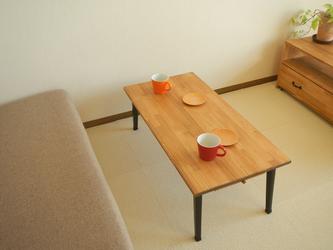 ひきだし2杯のソファーテーブル の画像