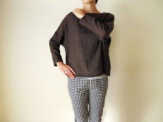 ウールガーゼ(ウール100%)のシャツ(モカ)の画像